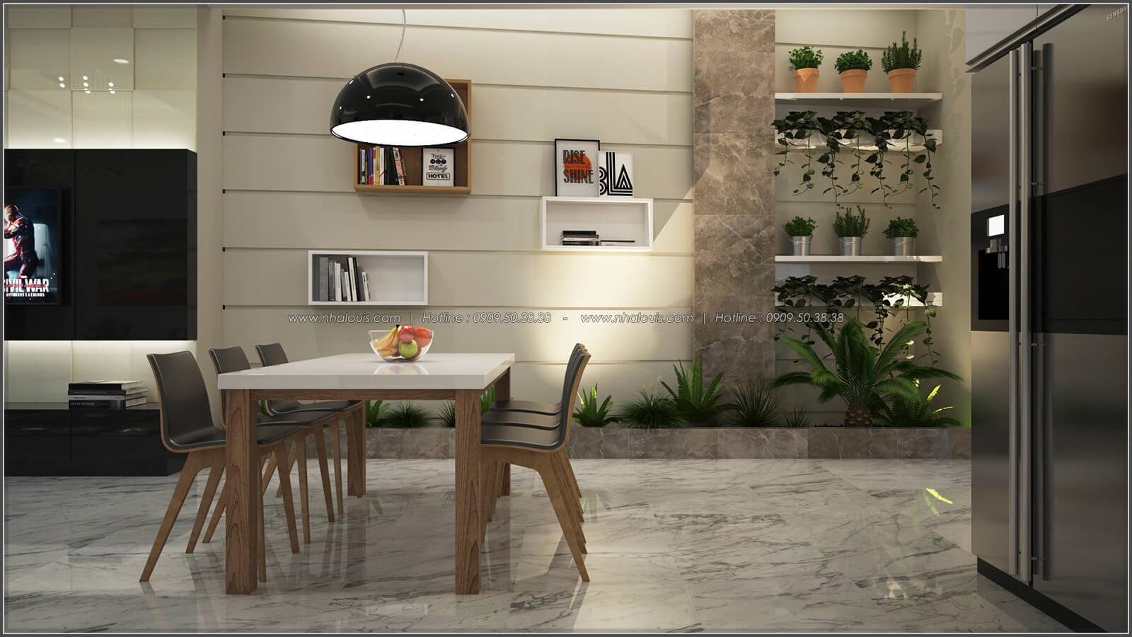 Phòng ăn thiết kế nhà có tầng hầm của chị Lan tại Quận 1 - 11