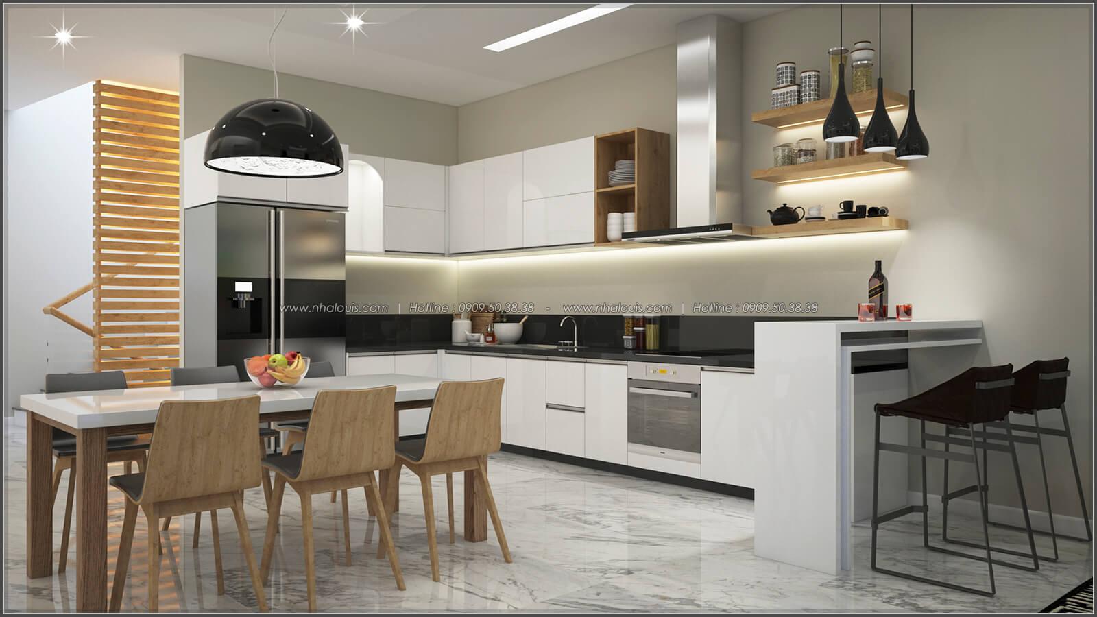 Phòng bếp thiết kế nhà có tầng hầm của chị Lan tại Quận 1 - 13