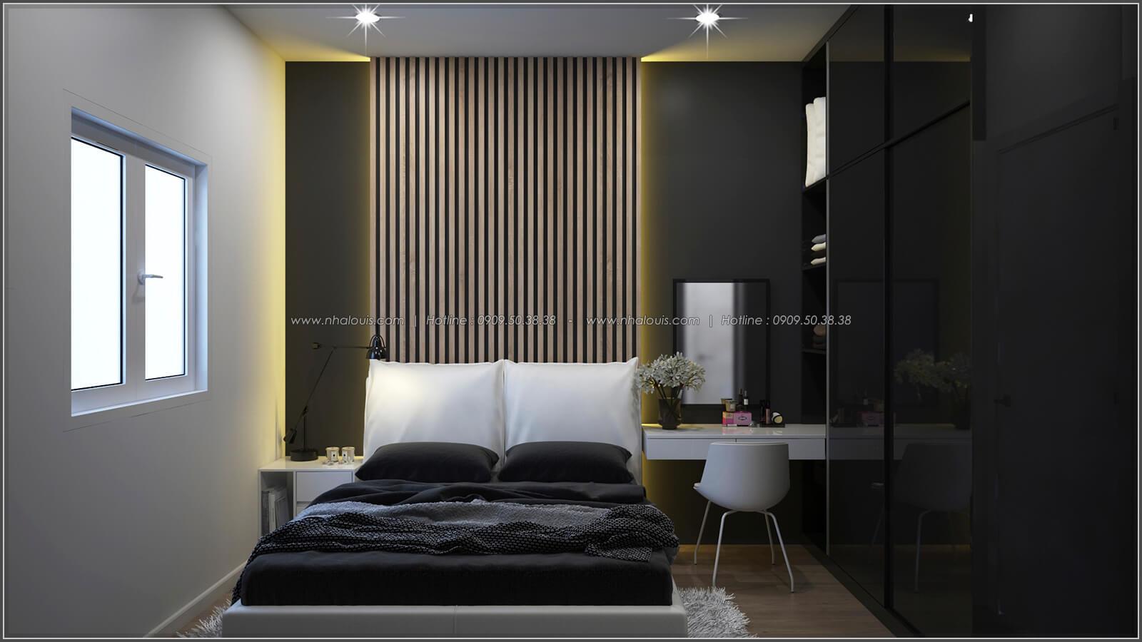 Phòng ngủ thiết kế nhà có tầng hầm của chị Lan tại Quận 1 - 15