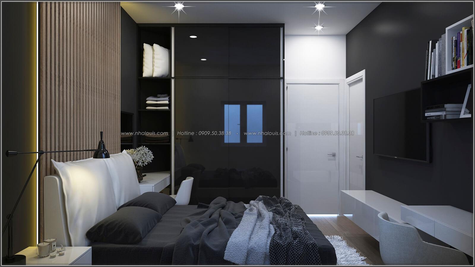 Phòng ngủ thiết kế nhà có tầng hầm của chị Lan tại Quận 1 - 16