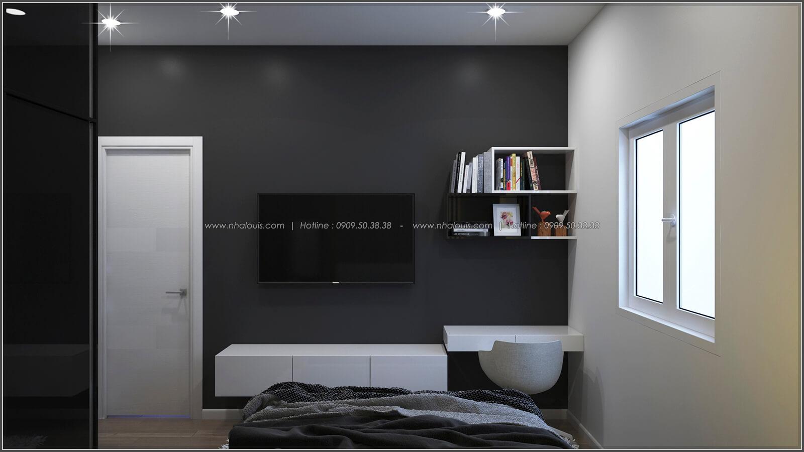 Phòng ngủ thiết kế nhà có tầng hầm của chị Lan tại Quận 1 - 17