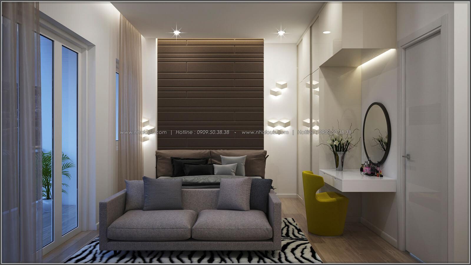 Phòng ngủ thiết kế nhà có tầng hầm của chị Lan tại Quận 1 - 19