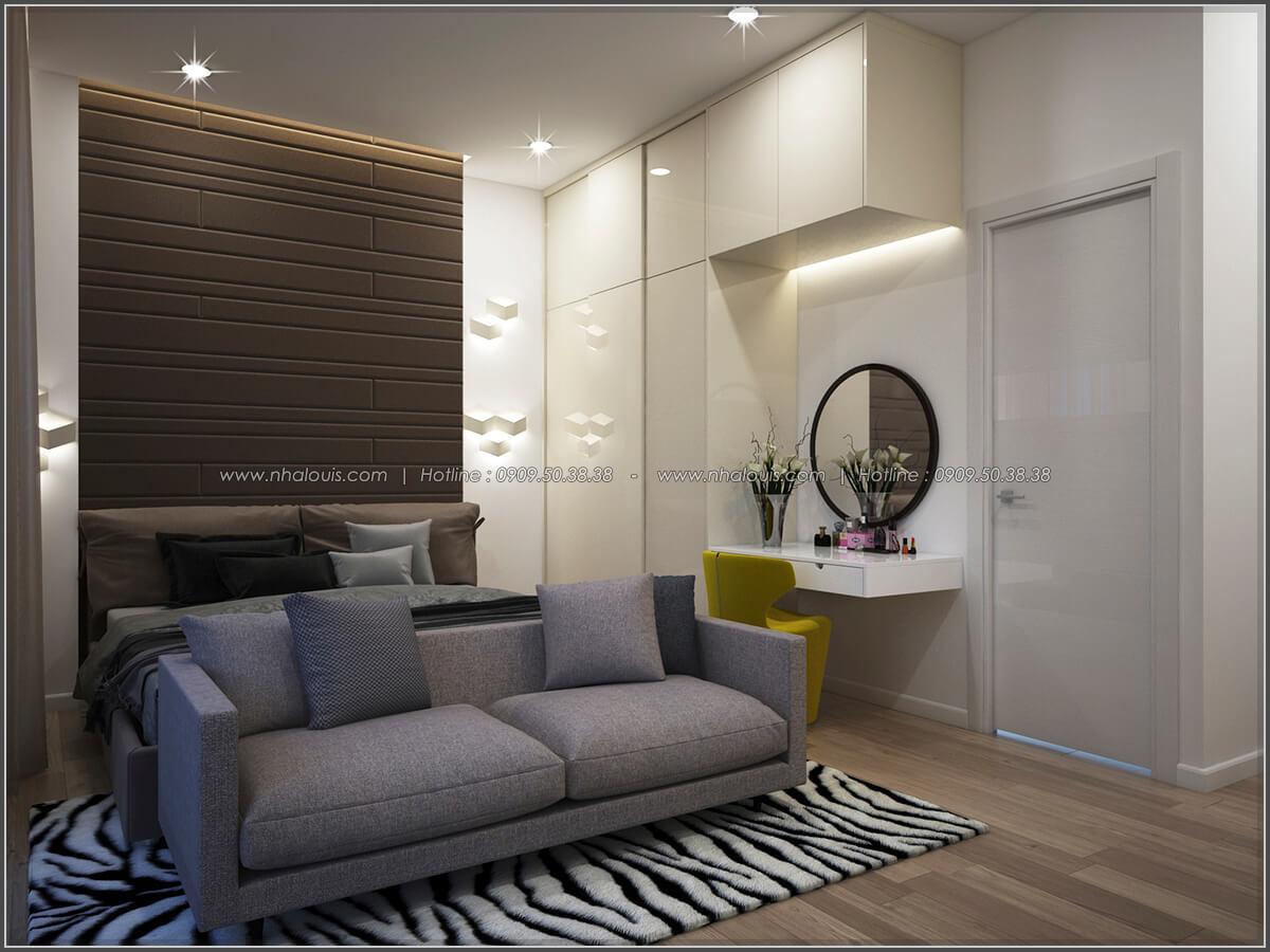 Phòng ngủ thiết kế nhà có tầng hầm của chị Lan tại Quận 1 - 20