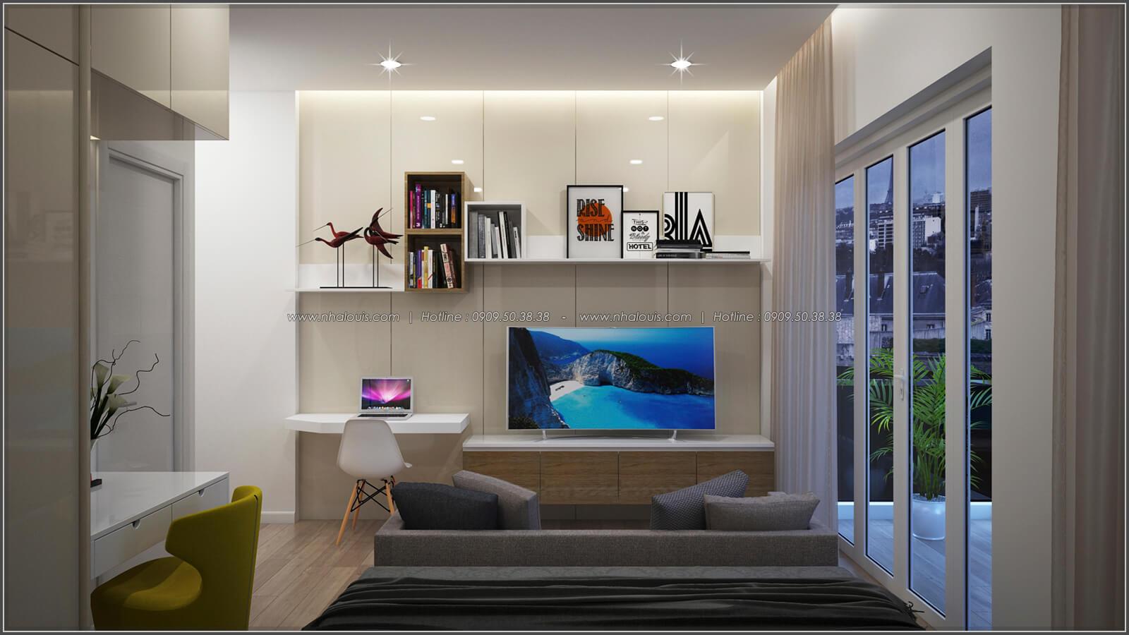 Phòng ngủ thiết kế nhà có tầng hầm của chị Lan tại Quận 1 - 21