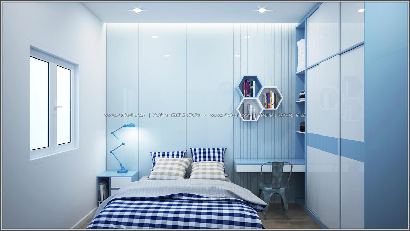 Phòng ngủ thiết kế nhà có tầng hầm của chị Lan tại Quận 1 - 23