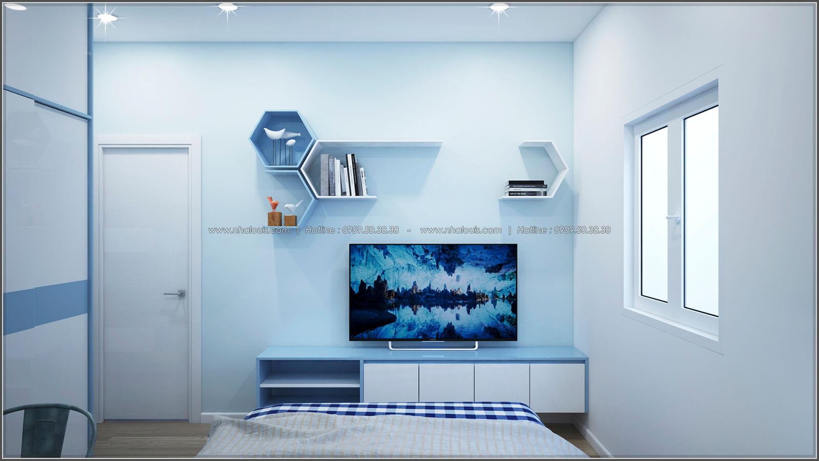 Phòng ngủ thiết kế nhà có tầng hầm của chị Lan tại Quận 1 - 24