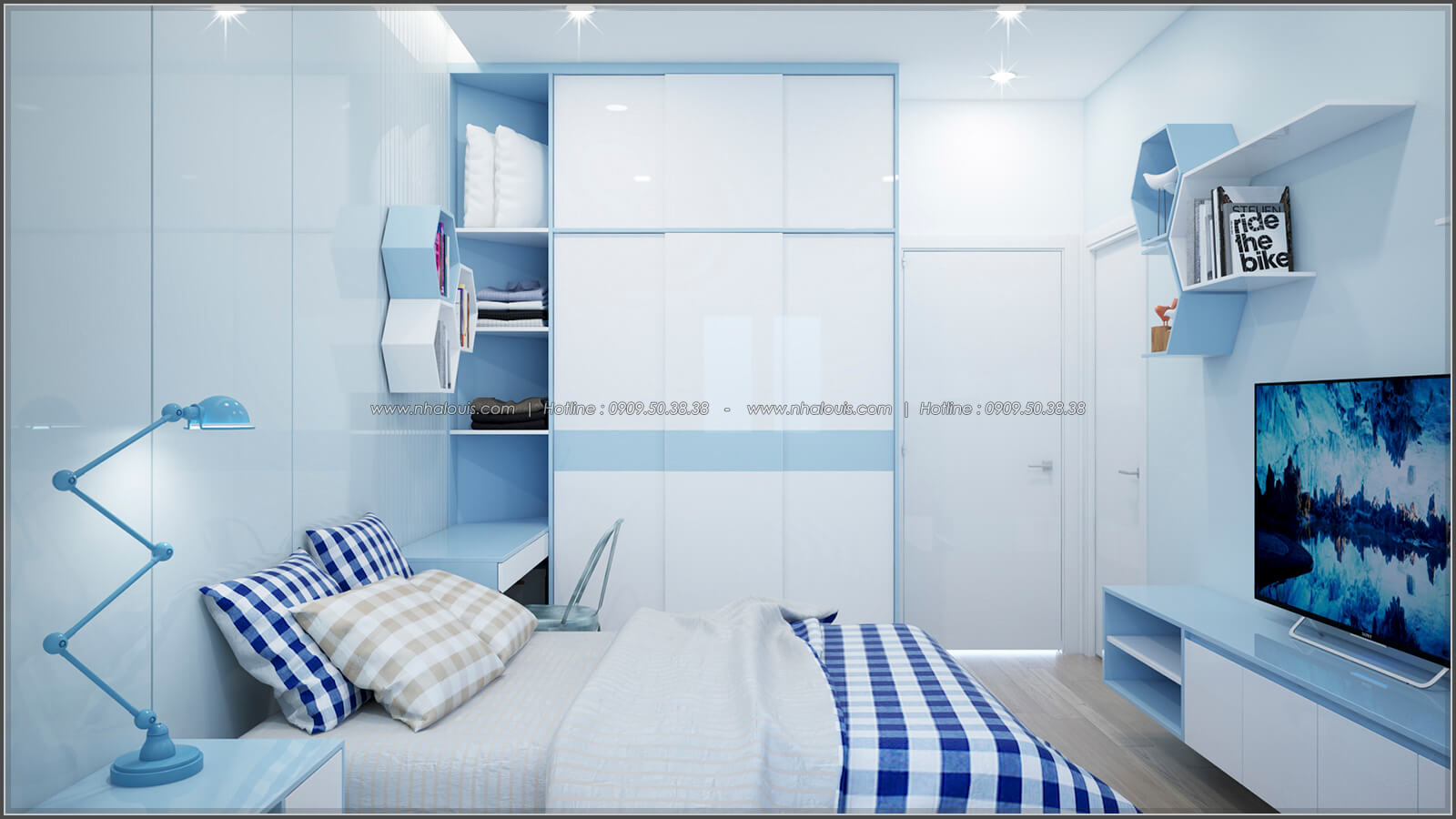 Phòng ngủ thiết kế nhà có tầng hầm của chị Lan tại Quận 1 - 25