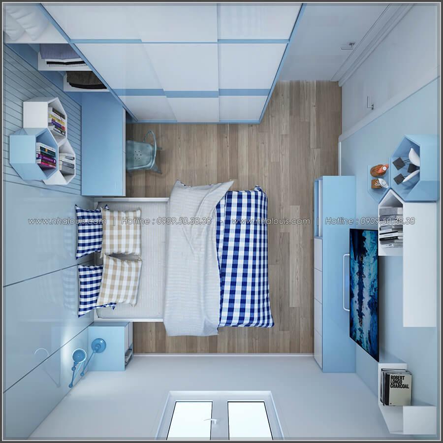 Phòng ngủ thiết kế nhà có tầng hầm của chị Lan tại Quận 1 - 26