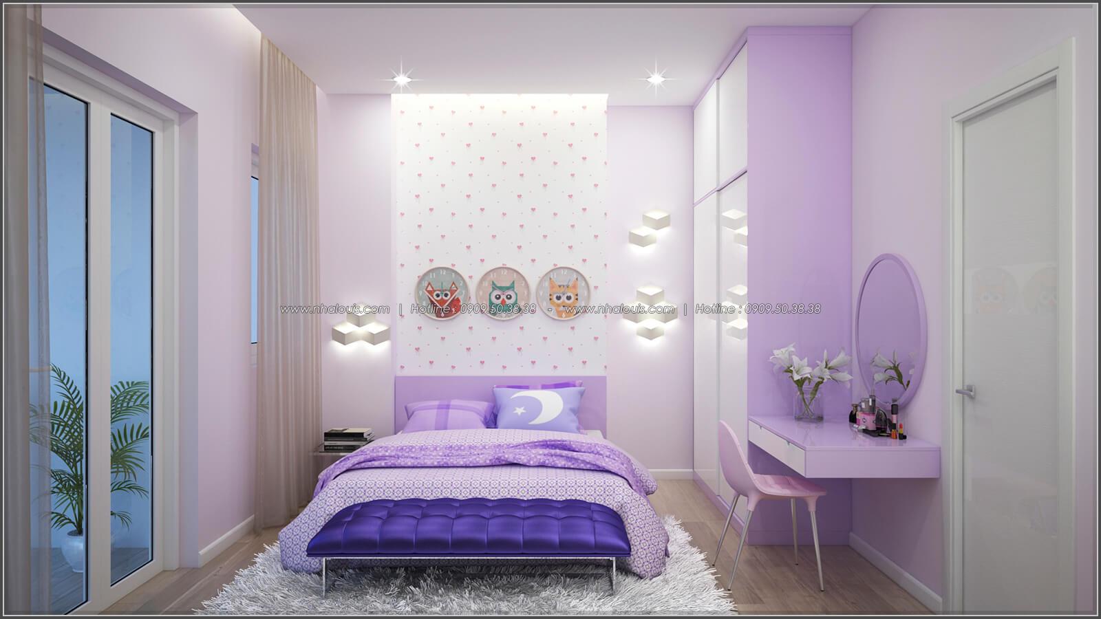 Phòng ngủ thiết kế nhà có tầng hầm của chị Lan tại Quận 1 - 27
