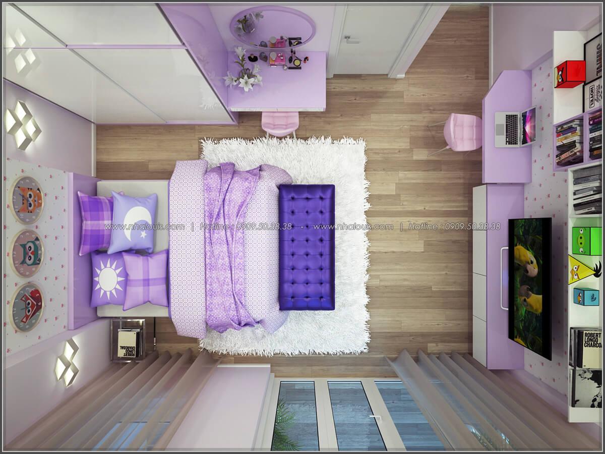 Phòng ngủ thiết kế nhà có tầng hầm của chị Lan tại Quận 1 - 29