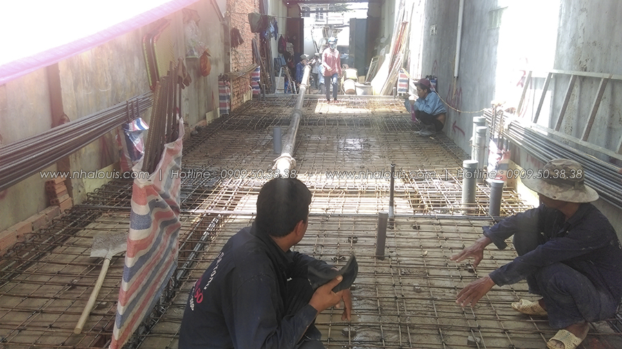 Những bước đầu thi công nhà phố đẹp tại Bình Tân