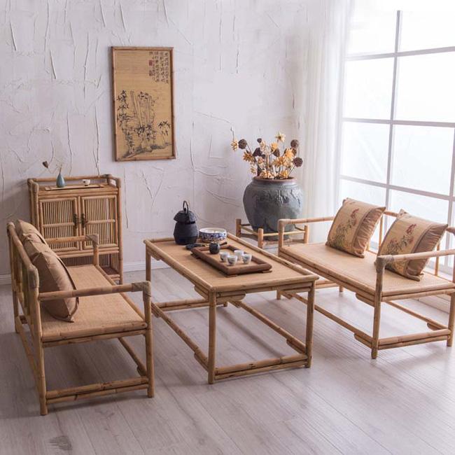 Những mẫu bàn ghế bằng mây tre đan đẹp đến bất ngờ - 02