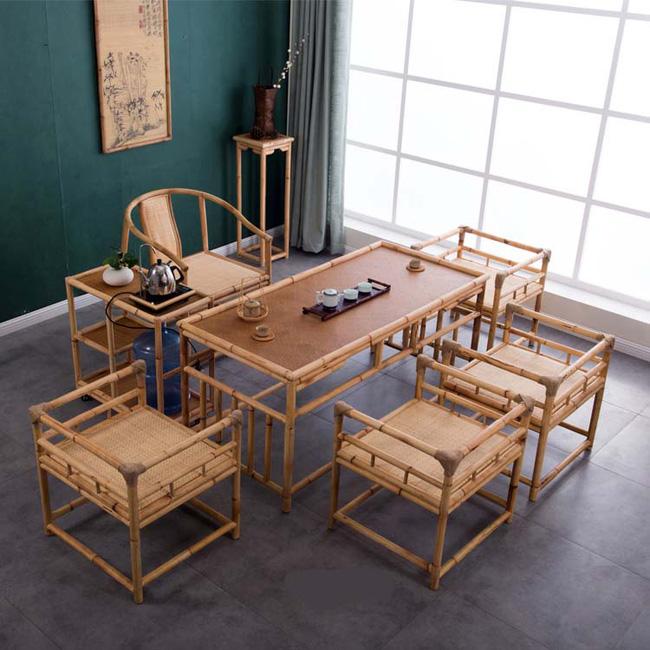 Những mẫu bàn ghế bằng mây tre đan đẹp đến bất ngờ - 04