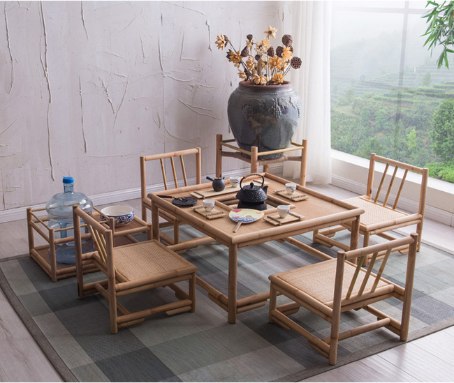 Những mẫu bàn ghế bằng mây tre đan đẹp đến bất ngờ - 05