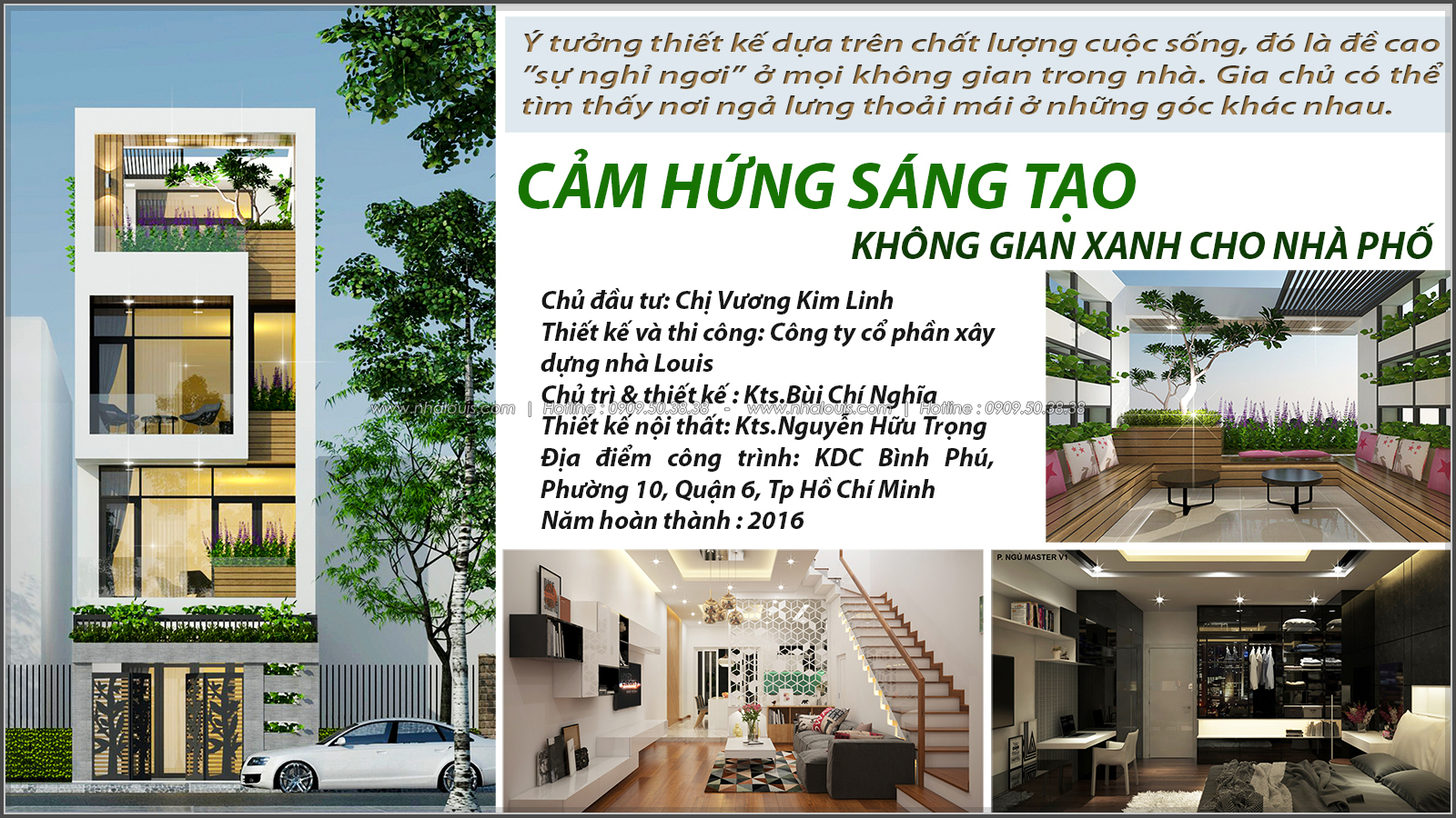 Say đắm với thiết kế nhà ống mặt tiền 5m của chị Linh quận 6 - 1