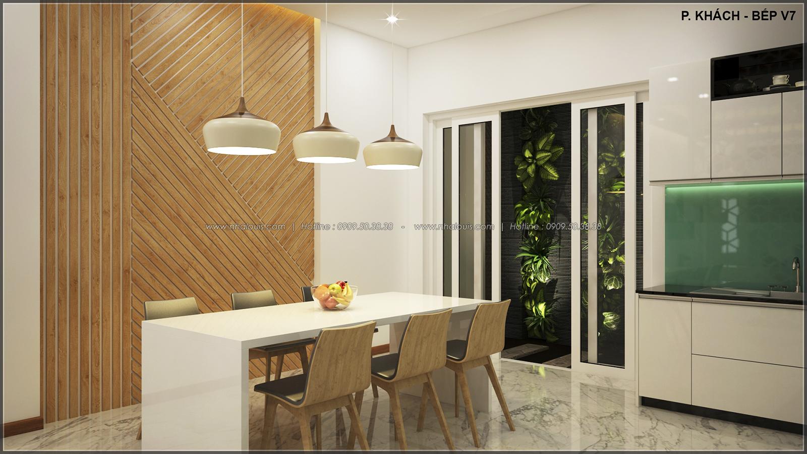 Phòng ăn phòng bếp với thiết kế nhà ống mặt tiền 5m của chị Linh quận 6 - 11