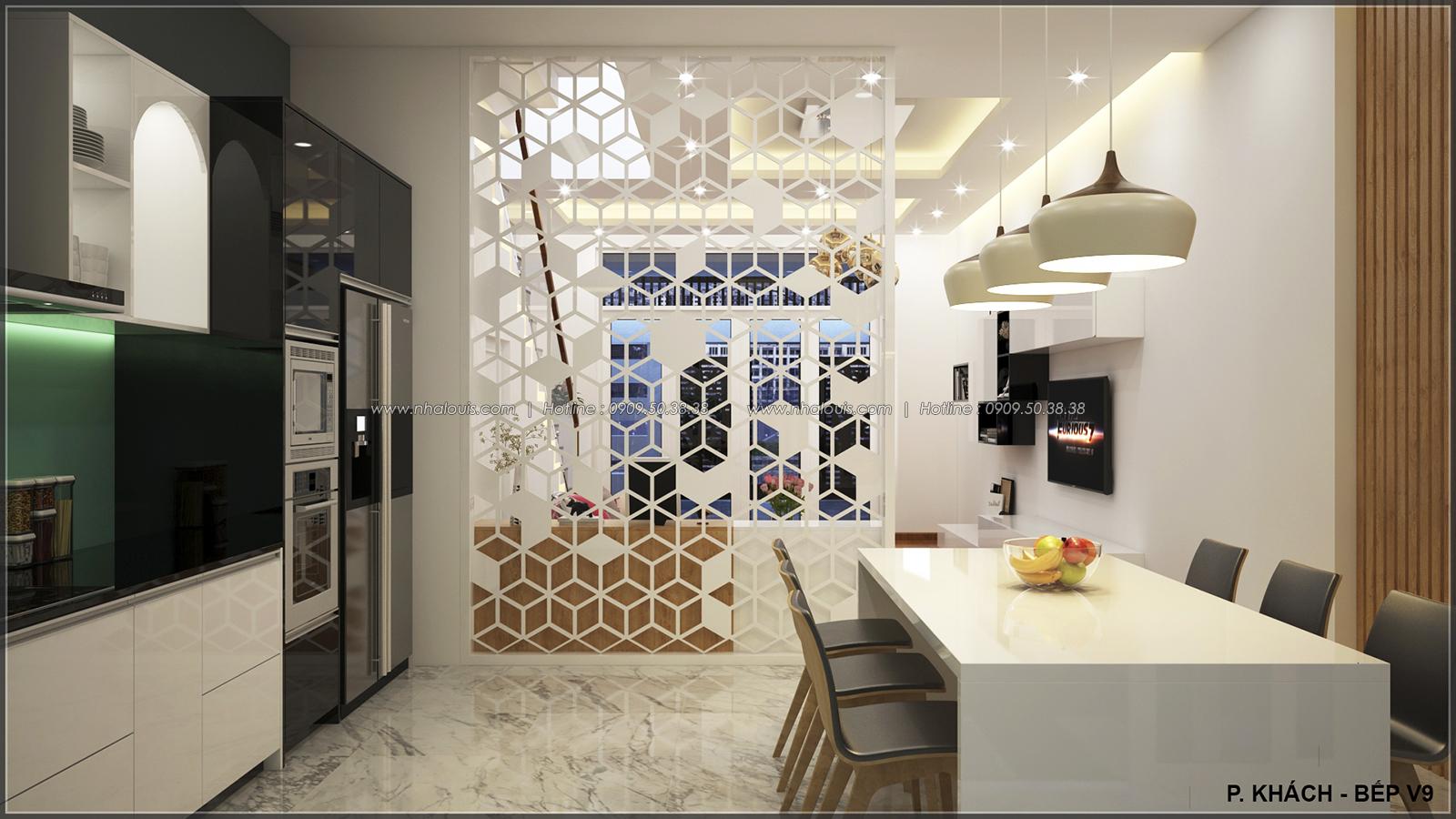 Phòng ăn phòng bếp với thiết kế nhà ống mặt tiền 5m của chị Linh quận 6 - 13