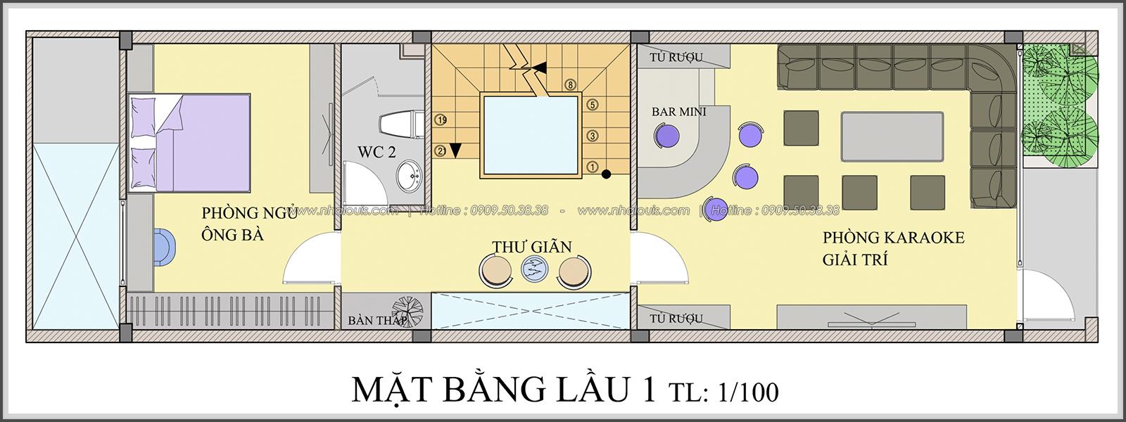 Say đắm với thiết kế nhà ống mặt tiền 5m của chị Linh quận 6 - 14