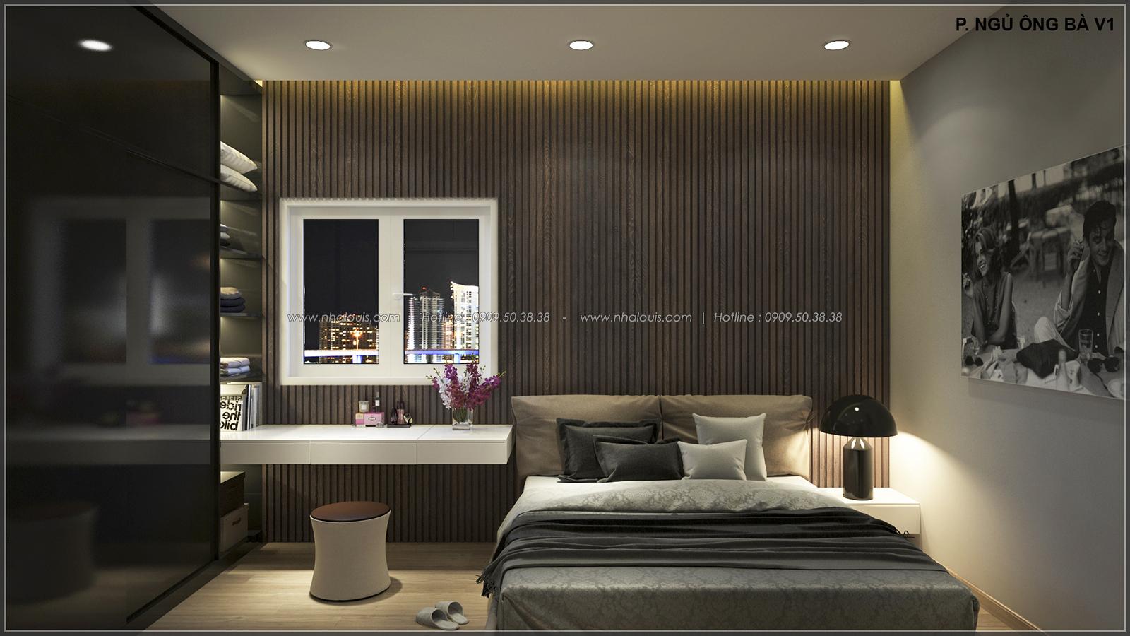 Phòng ngủ thiết kế nhà ống mặt tiền 5m của chị Linh quận 6 - 15