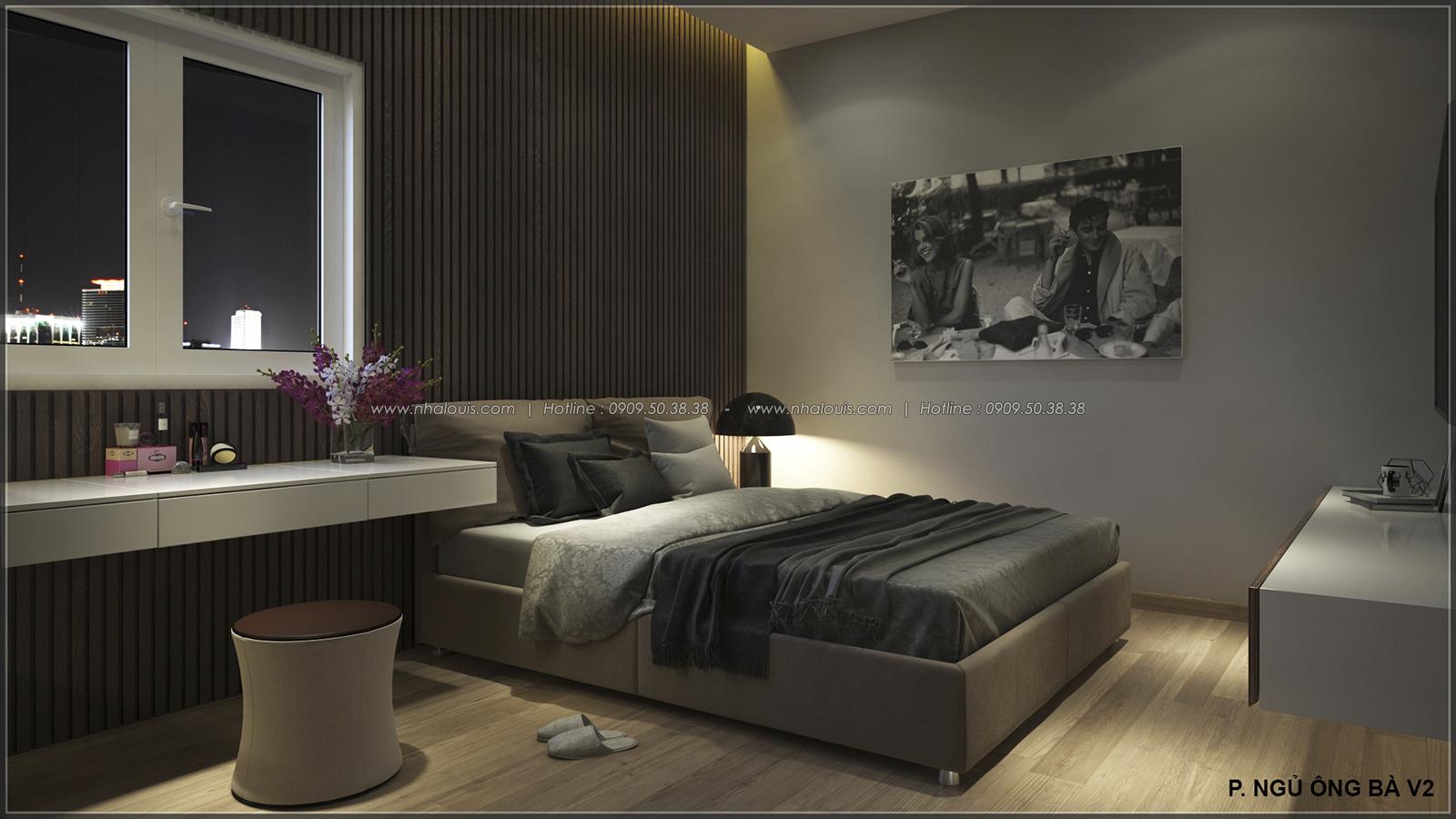 Phòng ngủ thiết kế nhà ống mặt tiền 5m của chị Linh quận 6 - 16