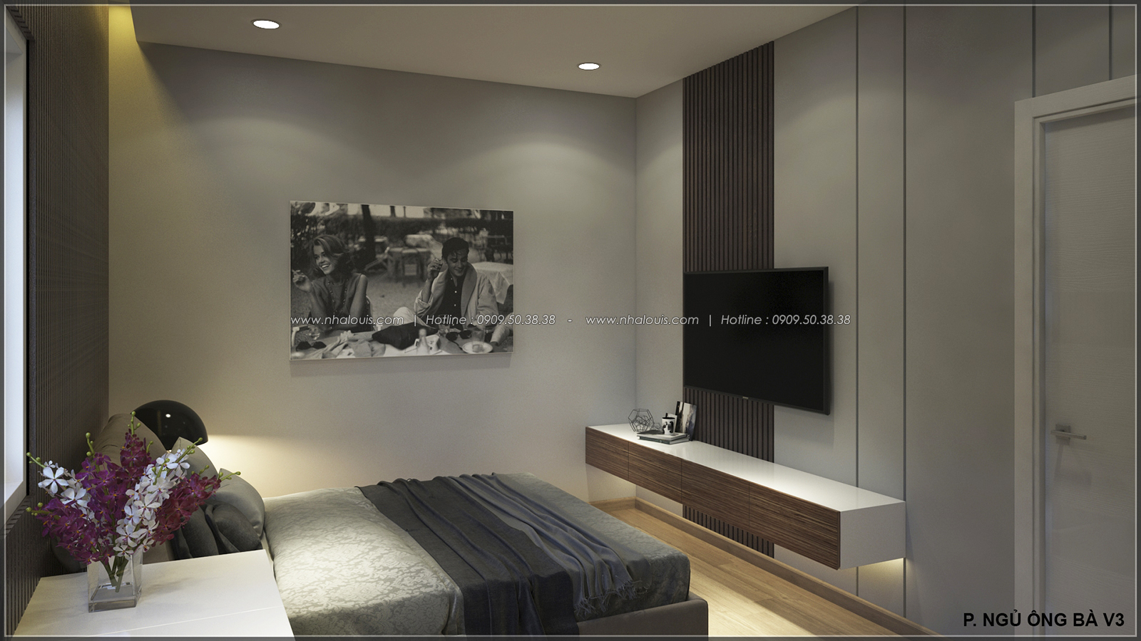 Phòng ngủ thiết kế nhà ống mặt tiền 5m của chị Linh quận 6 - 17