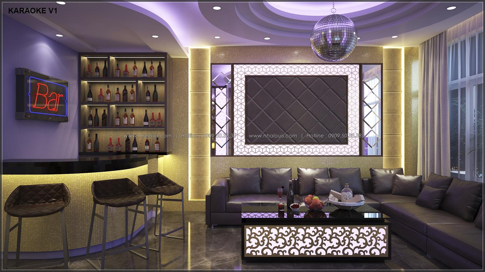 Phòng karaoke với thiết kế nhà ống mặt tiền 5m của chị Linh quận 6 - 19