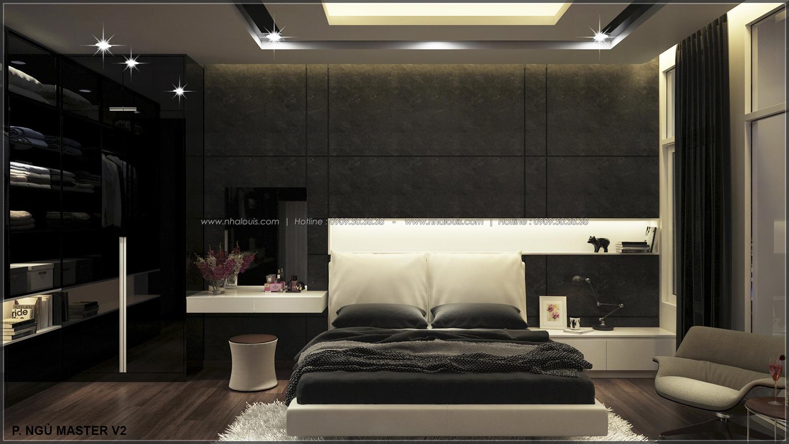 Phòng ngủ master với thiết kế nhà ống mặt tiền 5m của chị Linh quận 6 - 25