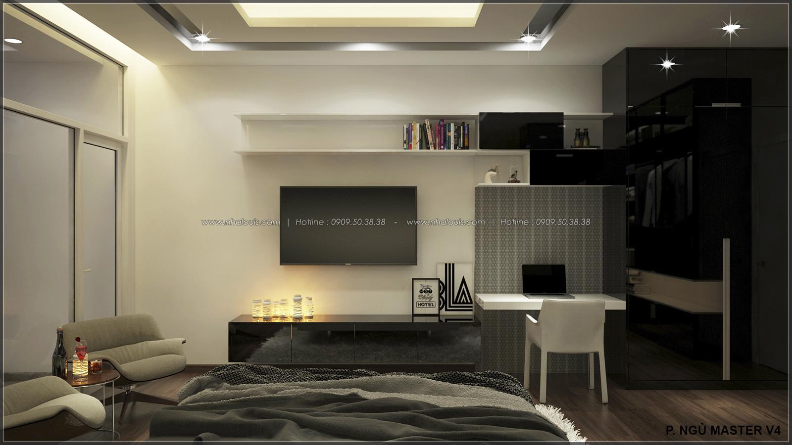 Phòng ngủ master với thiết kế nhà ống mặt tiền 5m của chị Linh quận 6 - 26