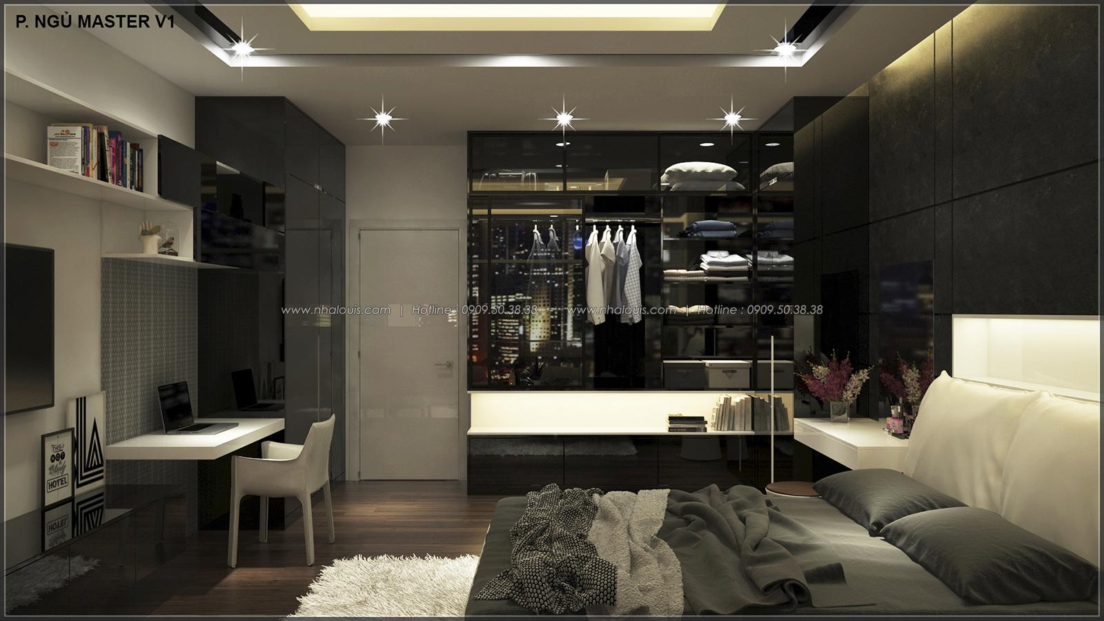 Phòng ngủ master với thiết kế nhà ống mặt tiền 5m của chị Linh quận 6 - 27
