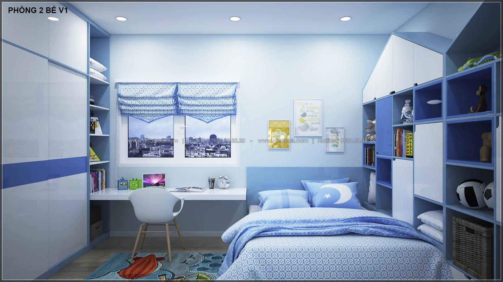 Phòng ngủ master với thiết kế nhà ống mặt tiền 5m của chị Linh quận 6 - 28