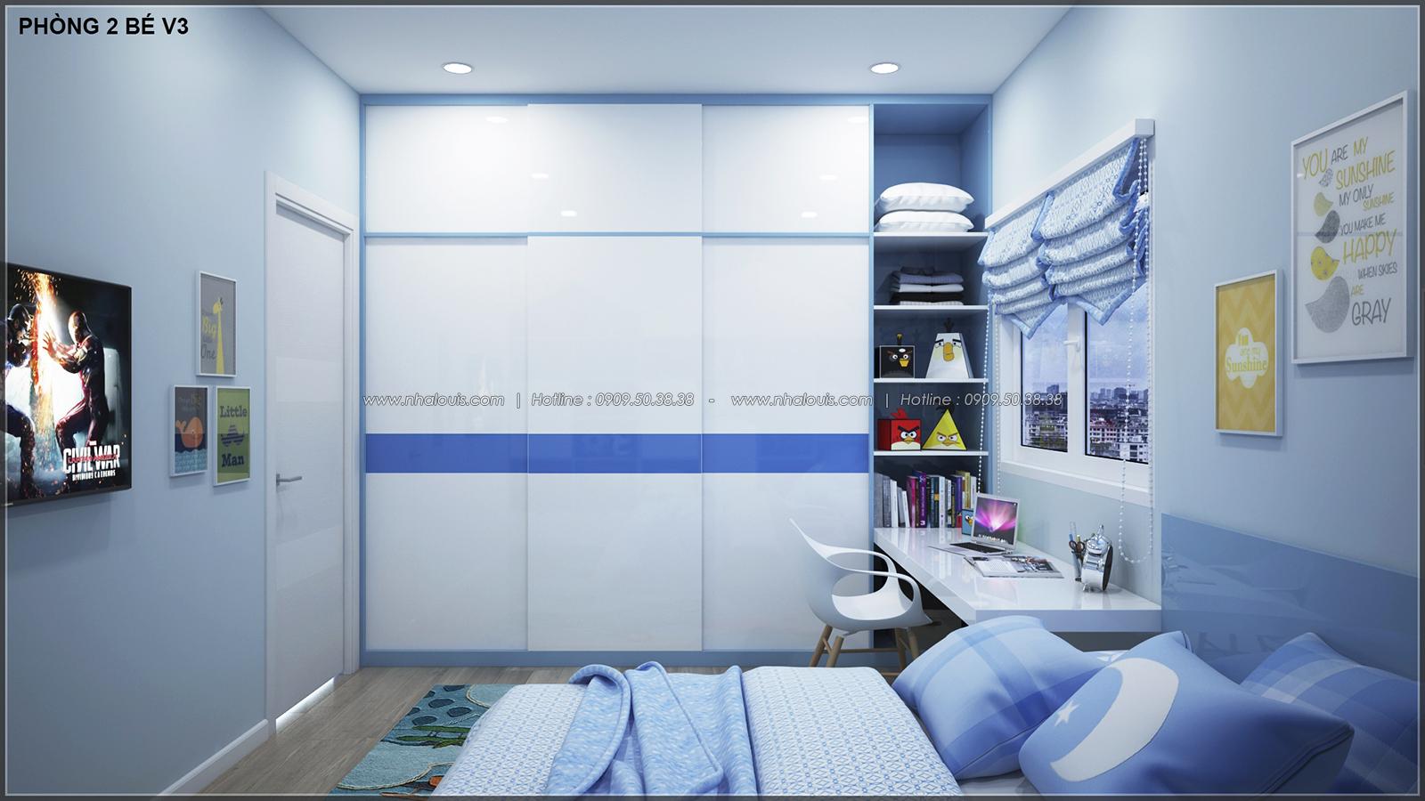 Phòng ngủ master với thiết kế nhà ống mặt tiền 5m của chị Linh quận 6 - 30