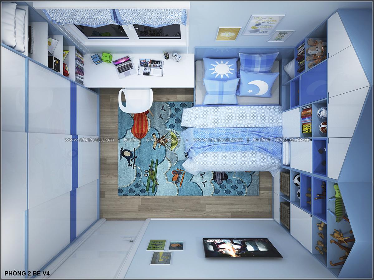 Phòng ngủ master với thiết kế nhà ống mặt tiền 5m của chị Linh quận 6 - 31