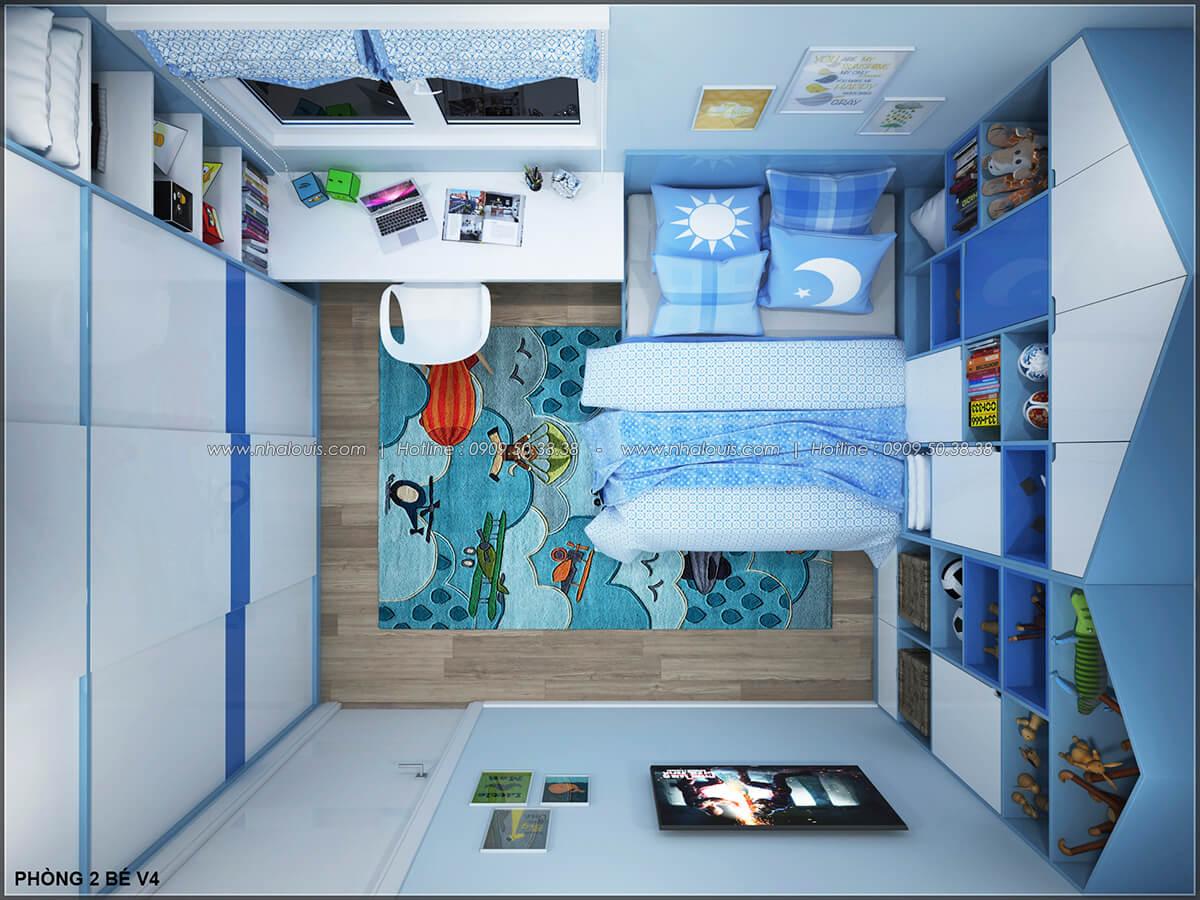 Trang trí phòng ngủ cho bé trai năng động