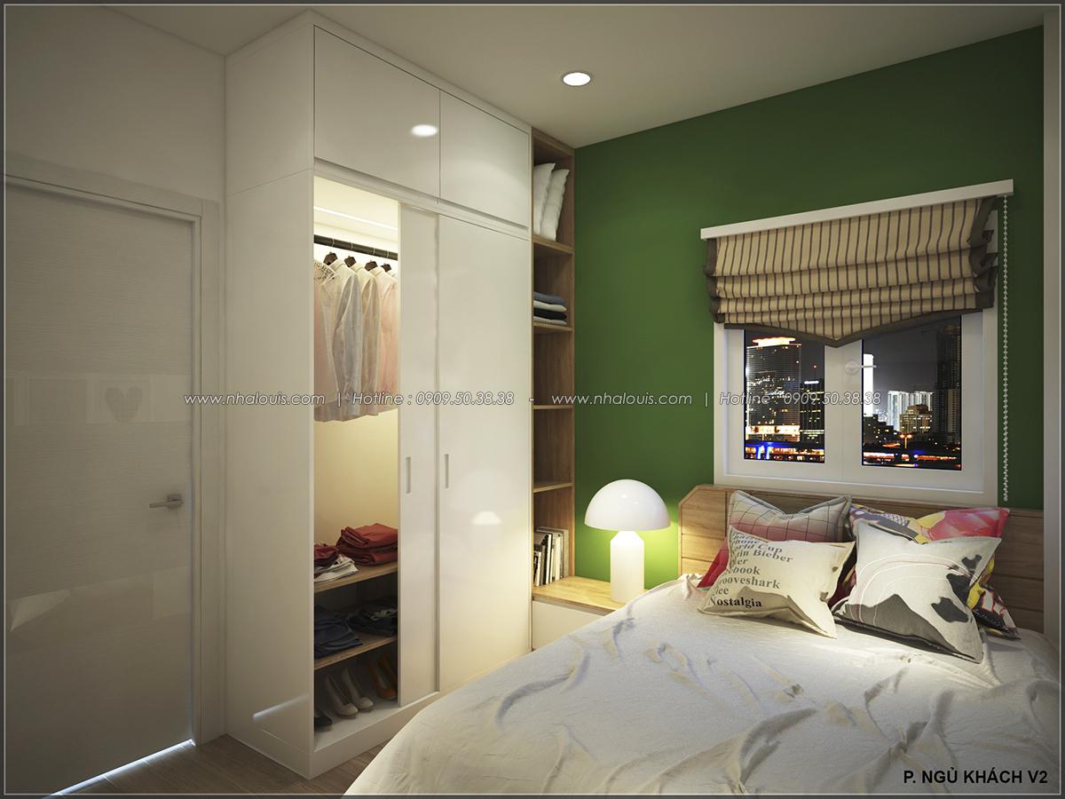 Phòng ngủ với thiết kế nhà ống mặt tiền 5m của chị Linh quận 6 - 34