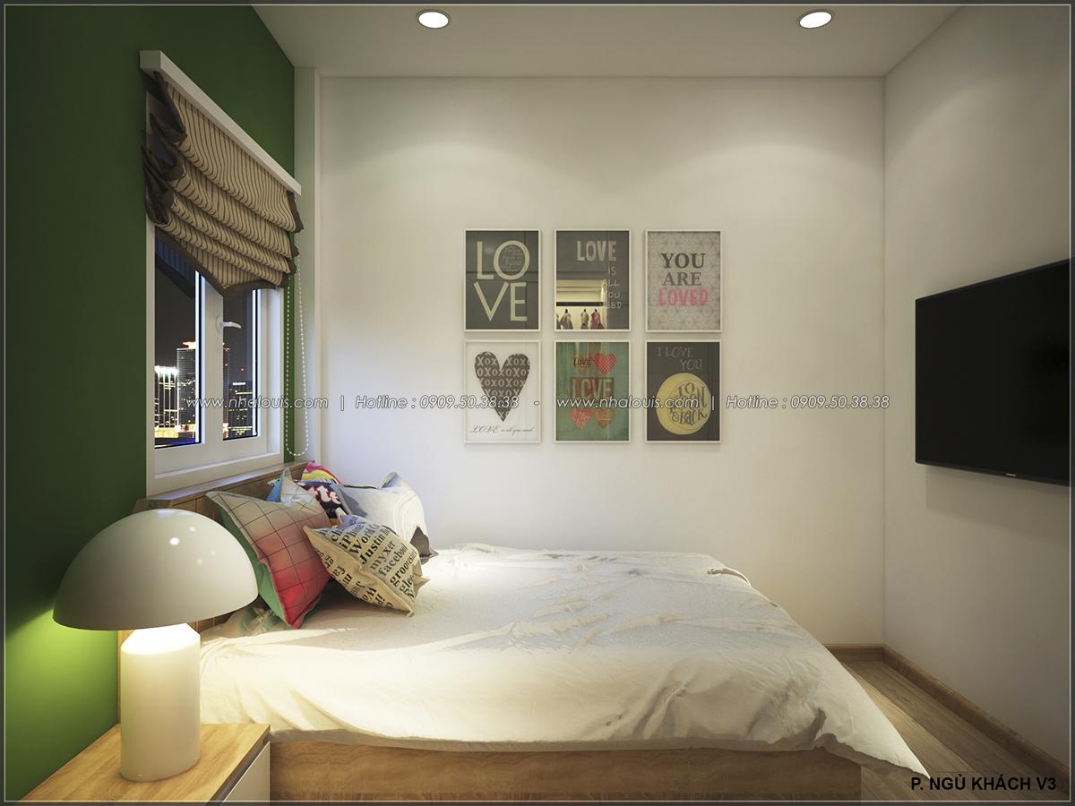 Phòng ngủ với thiết kế nhà ống mặt tiền 5m của chị Linh quận 6 - 35