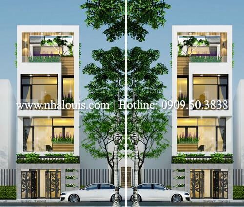 mặt tiền thiết kế mặt tiền nhà phố 5m