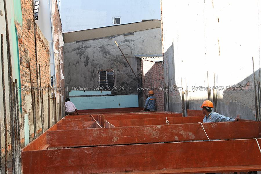 Thi công nhà ống 5 tầng đẹp của chị Oanh tại Tân Bình