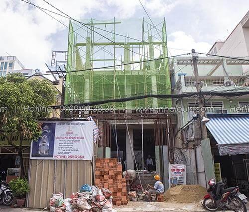 Thi công xây dựng nhà ở kết hợp văn phòng cho thuê tại Tân Bình