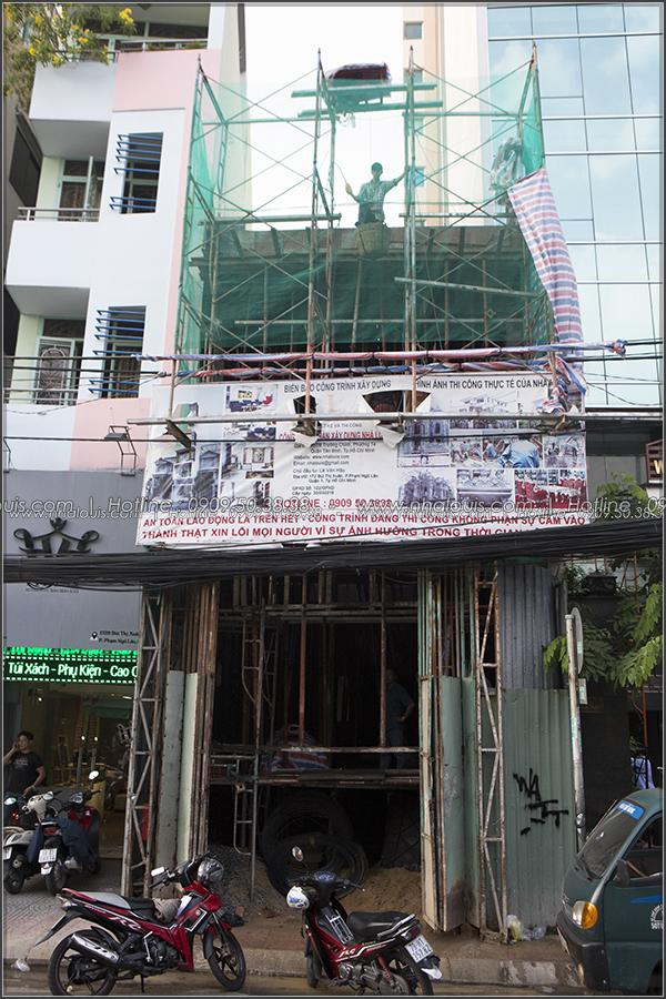 Thi công xây dựng thiết kế nhà phố đẹp 5 tầng tại quận 1