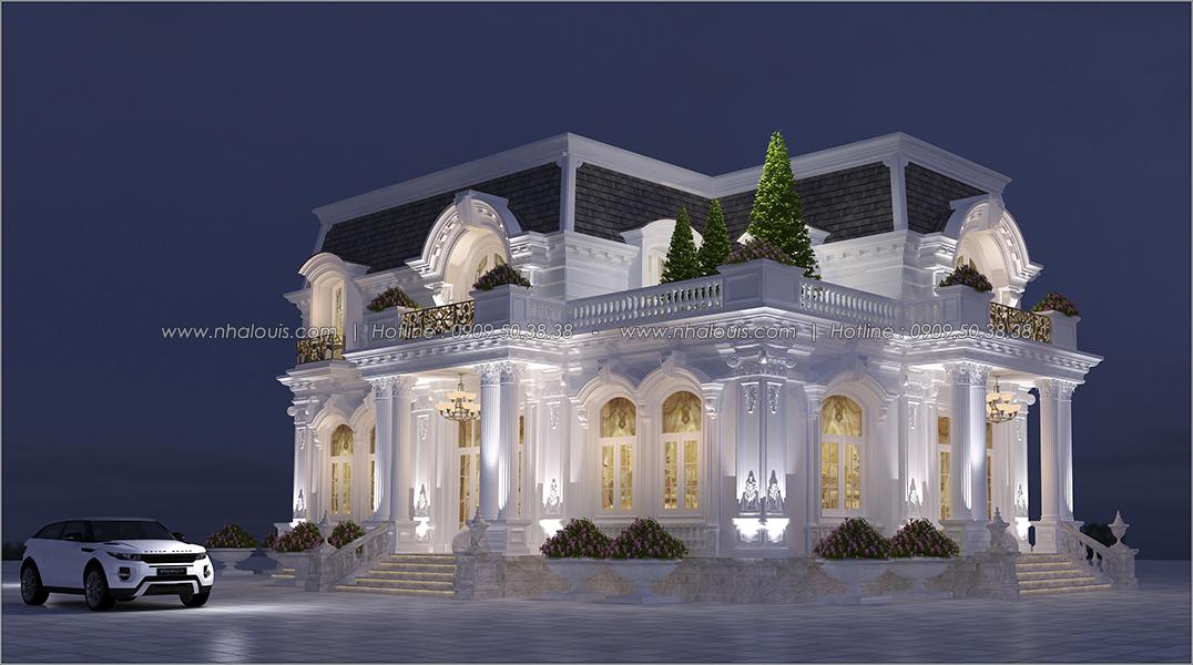 Mặt tiền Thiết kế biệt thự 2 tầng kiểu Pháp đẹp sang trọng tại Bình Dương - 3