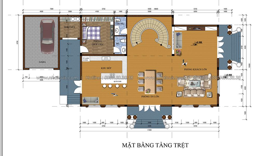 Thiết kế biệt thự 2 tầng kiểu Pháp đẹp sang trọng tại Bình Dương - 4