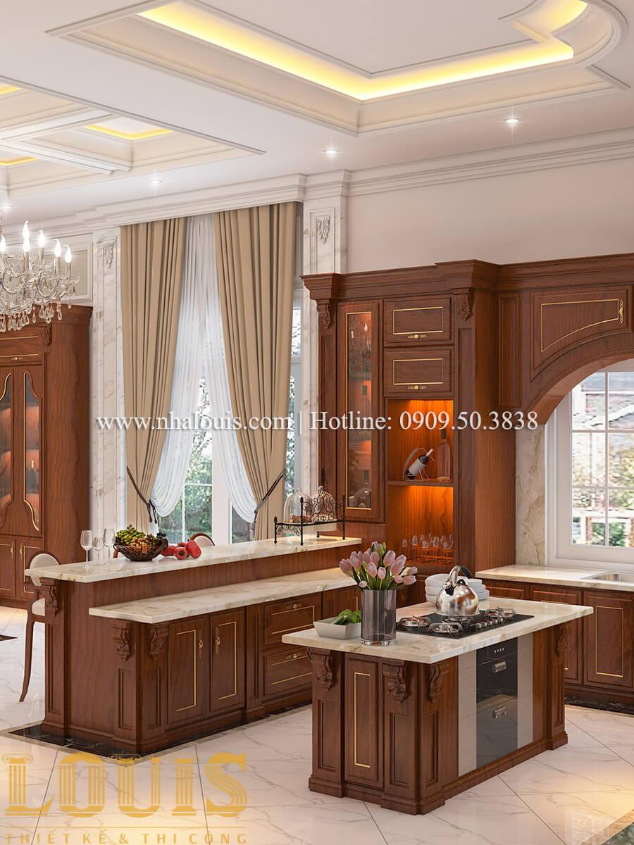 Bếp và phòng ăn Thiết kế mẫu biệt thự 3 tầng kiểu Pháp tại Bình Dương