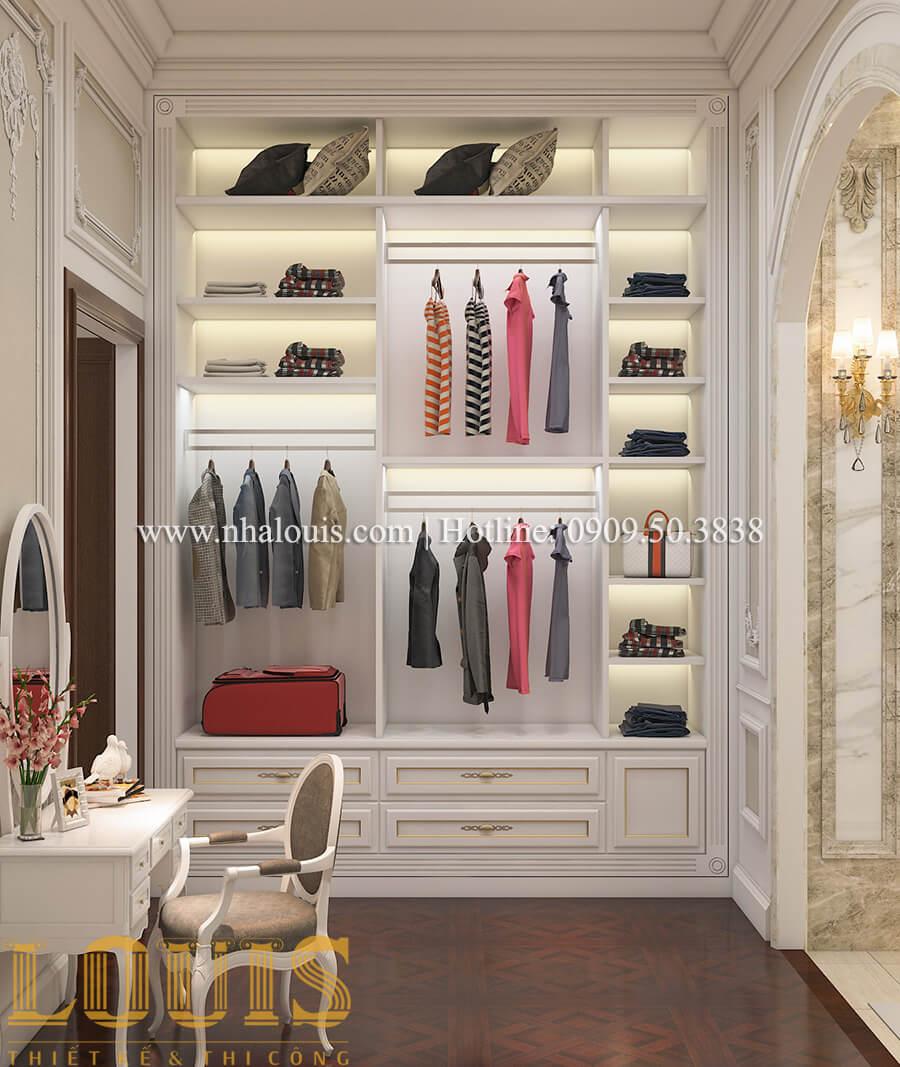 Phòng ngủ và phòng thay đồ Thiết kế mẫu biệt thự 3 tầng kiểu Pháp tại Bình Dương