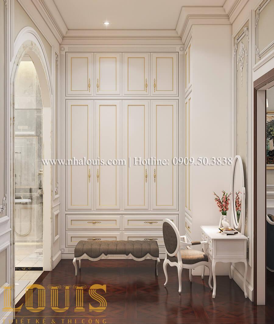 Phòng ngủ và phòng trang điểm Thiết kế mẫu biệt thự 3 tầng kiểu Pháp tại Bình Dương