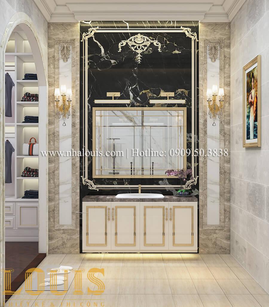 Phòng tắm Thiết kế mẫu biệt thự 3 tầng kiểu Pháp tại Bình Dương