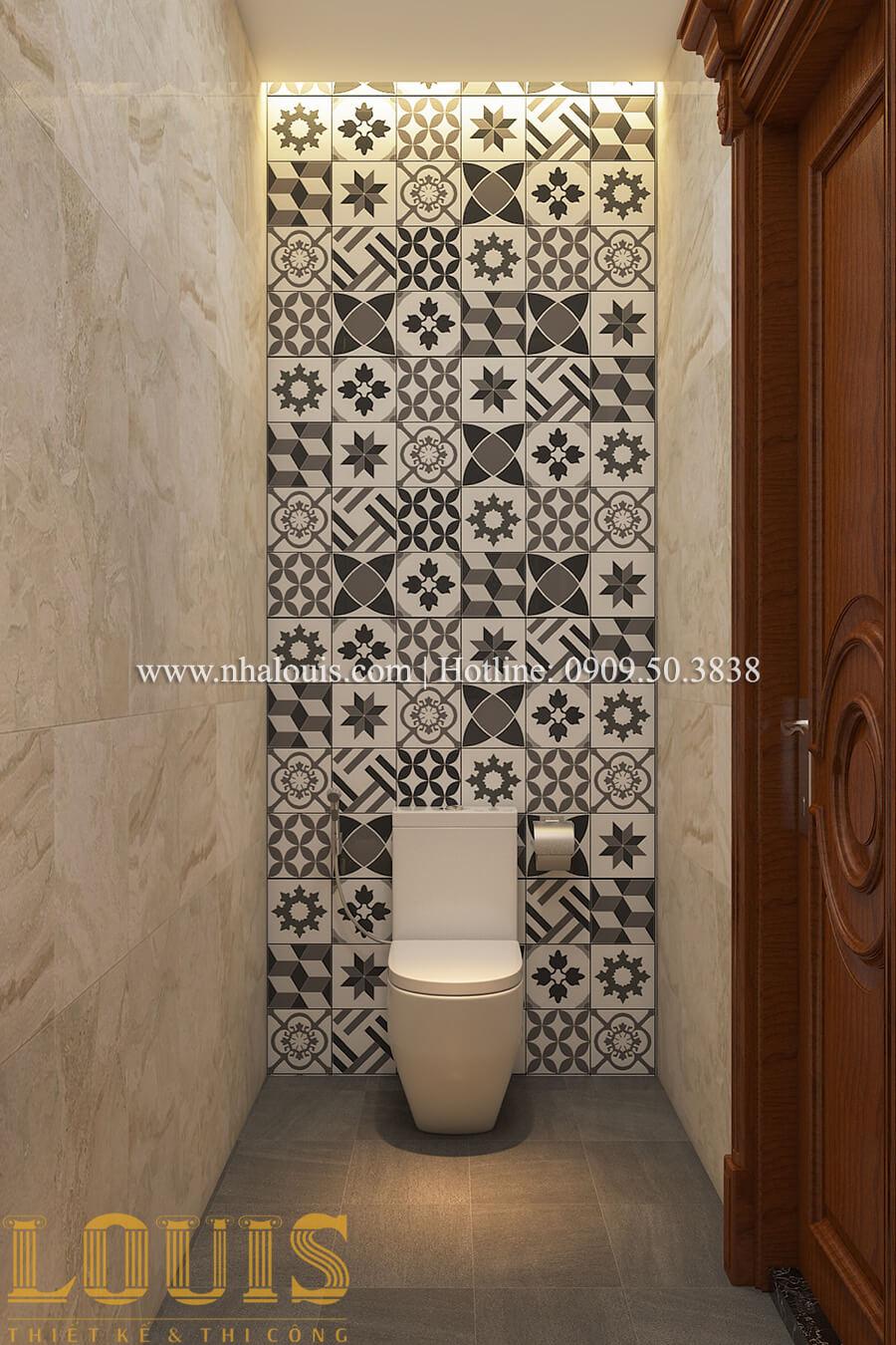 Phòng tắm và WC Thiết kế mẫu biệt thự 3 tầng kiểu Pháp tại Bình Dương
