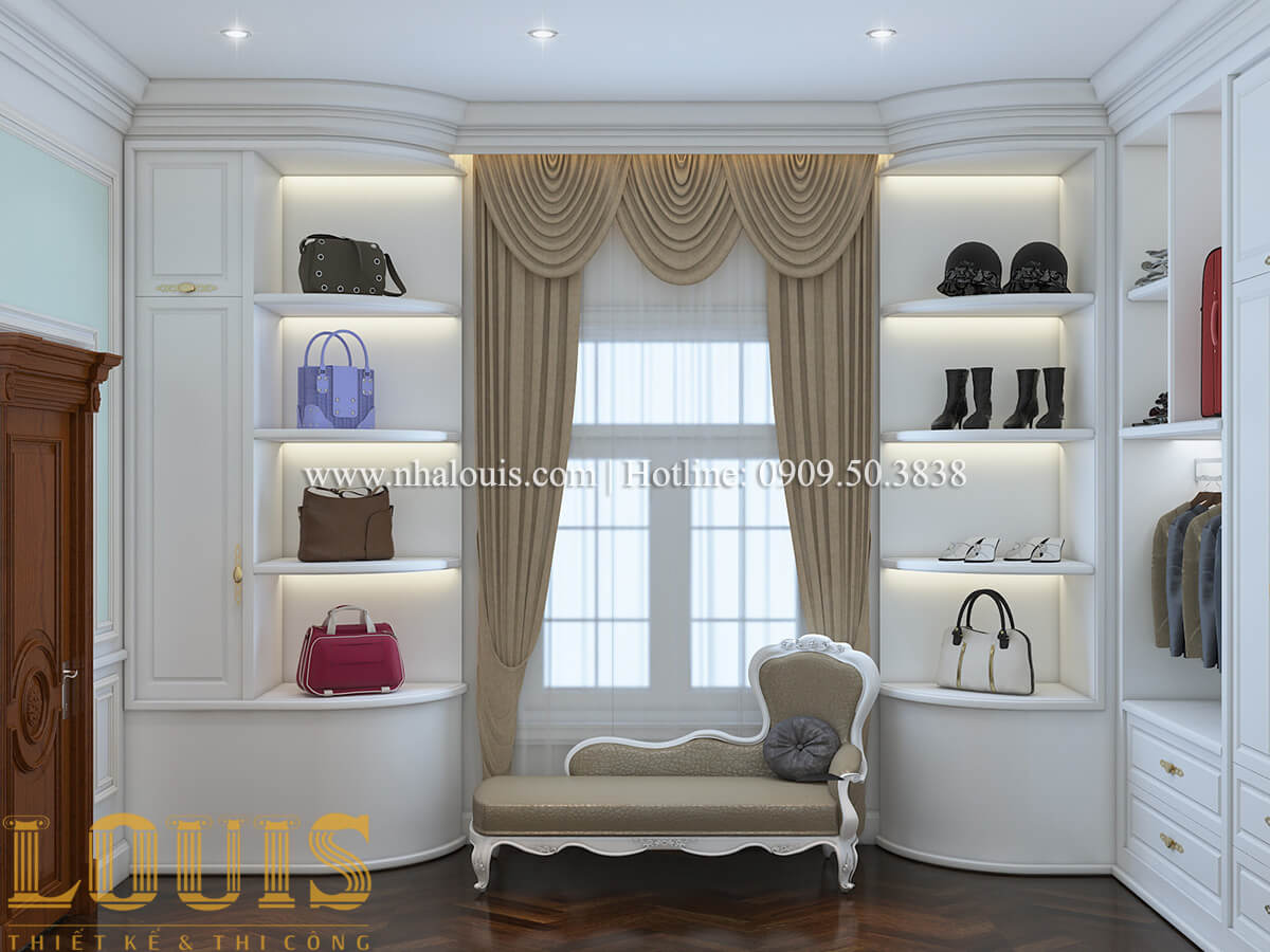 Phòng ngủ Thiết kế mẫu biệt thự 3 tầng kiểu Pháp tại Bình Dương