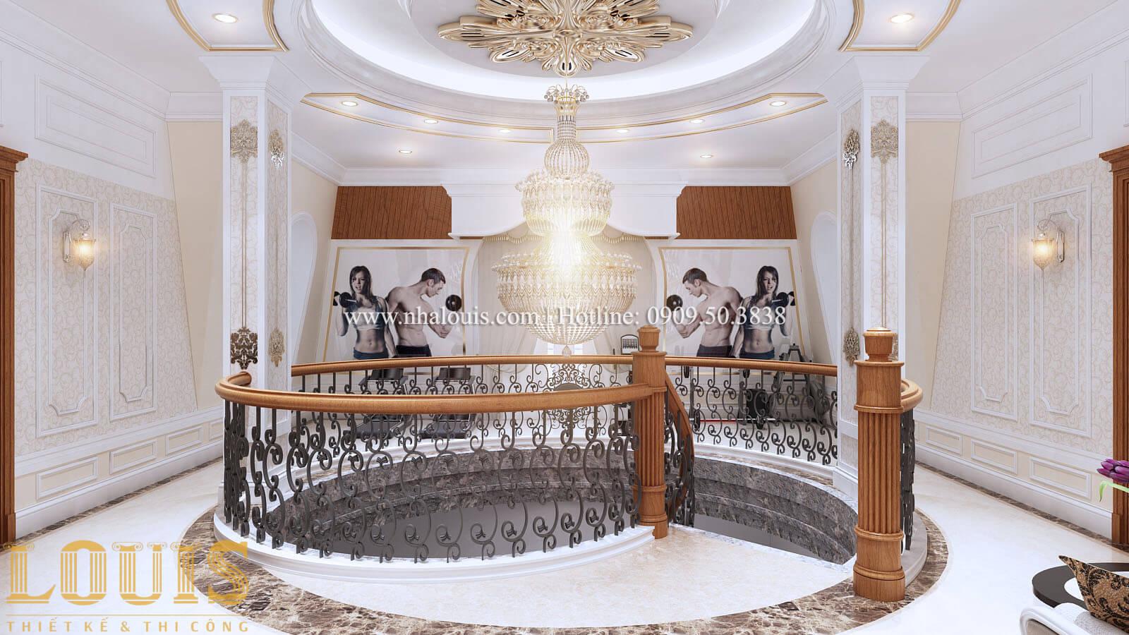 Sảnh Thiết kế mẫu biệt thự 3 tầng kiểu Pháp tại Bình Dương