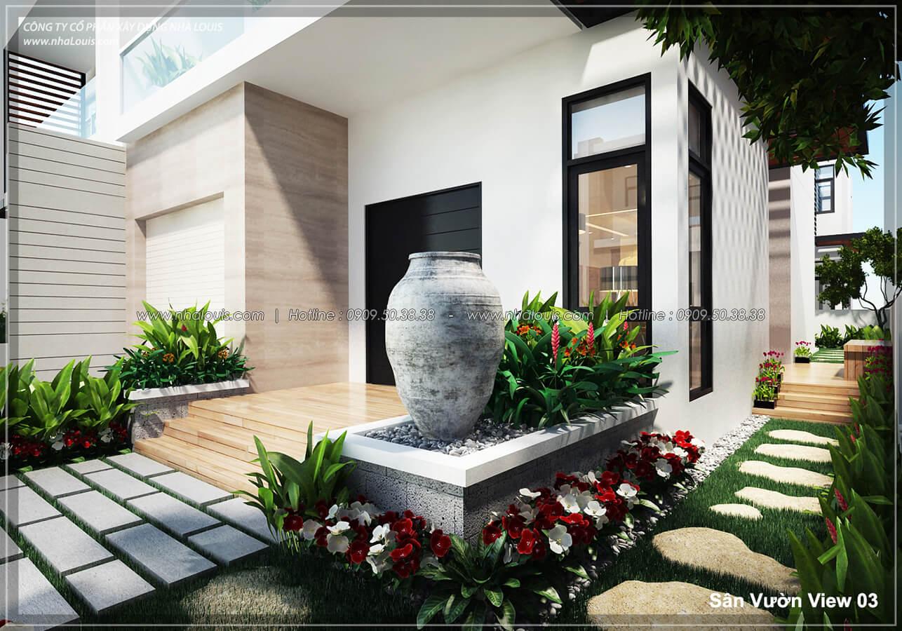 Sân vườn Thiết kế nội thất biệt thự hiện đại đẹp tại dự án Lucasta Villa đẳng cấp - 03