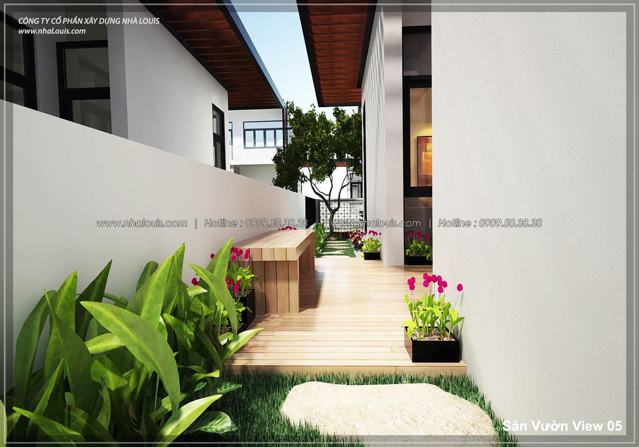 sân vườn Thiết kế nội thất biệt thự hiện đại đẹp tại dự án Lucasta Villa đẳng cấp - 05